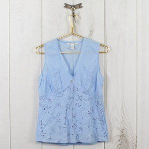 HORNY TOAD Side Zip Sleeveless Floral Top Size M